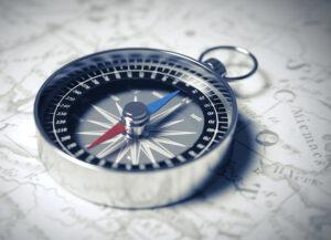 Bild eines Kompasses